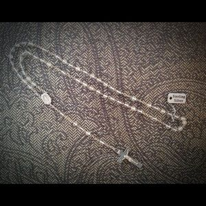 Jewelry - Sterling Silver and Glass Beads Rosary